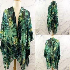 Avenue Plus Size Tropical Kimono Overwrap O/S